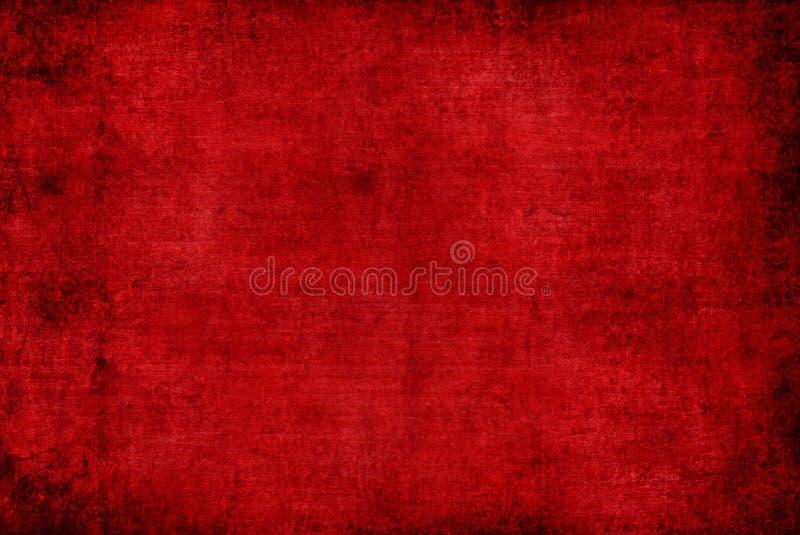 O Grunge distorceu a obscuridade - papel de parede abstrato velho vermelho do fundo do teste padrão da textura foto de stock