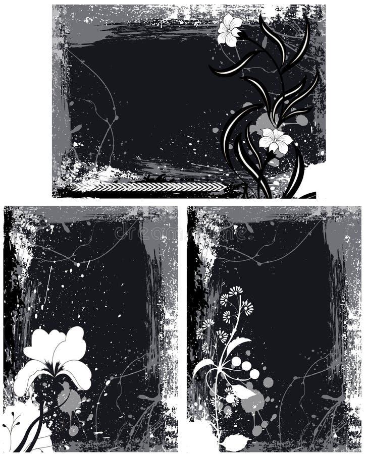 O Grunge molda vetores ilustração stock
