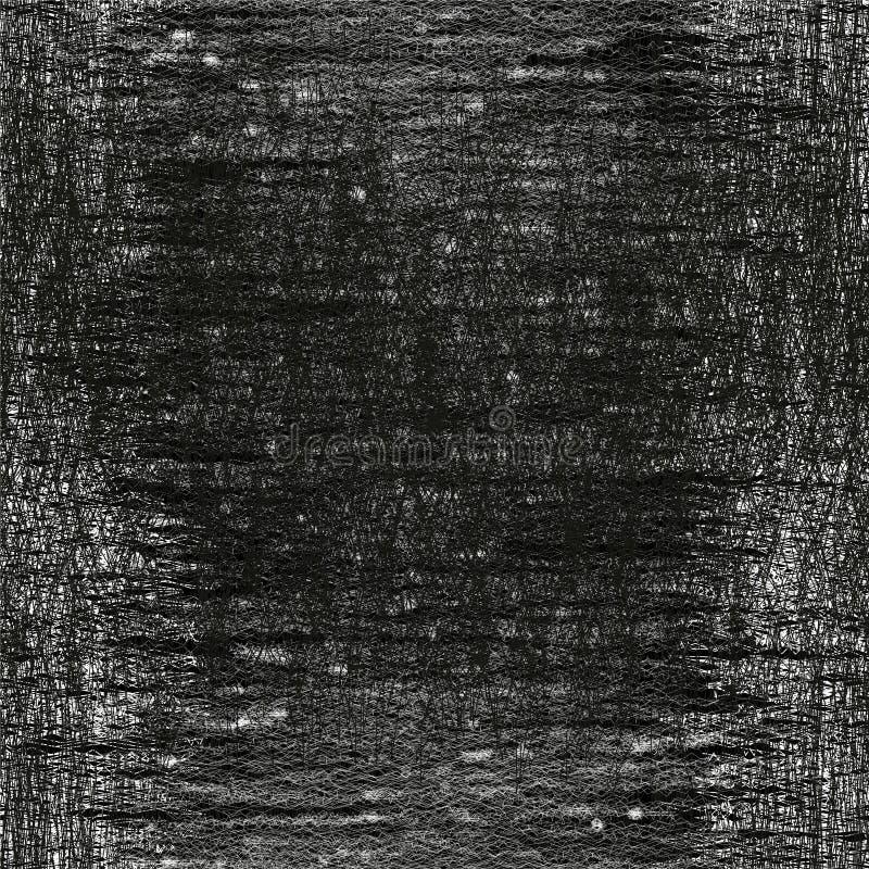 O grunge preto e branco listrado, manchou o teste padrão sem emenda ilustração do vetor