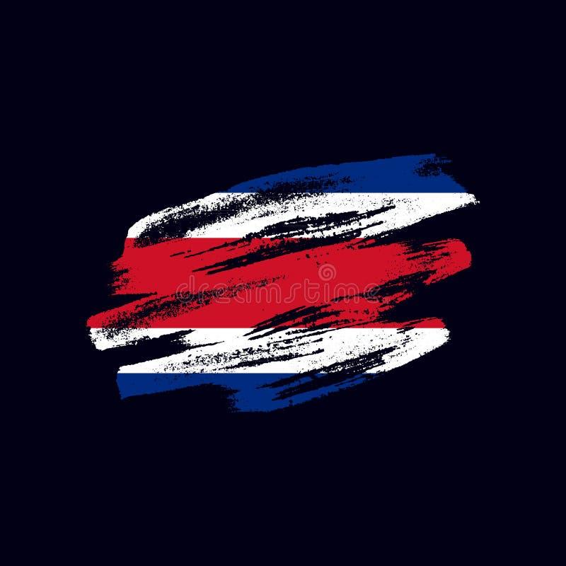 O Grunge textured a bandeira de Costa Rican ilustração stock