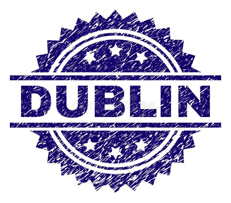 O Grunge Textured DUBLIN Stamp Seal ilustração royalty free