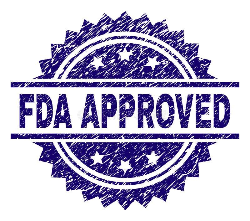 O Grunge Textured FDA APROVOU o selo do selo ilustração do vetor
