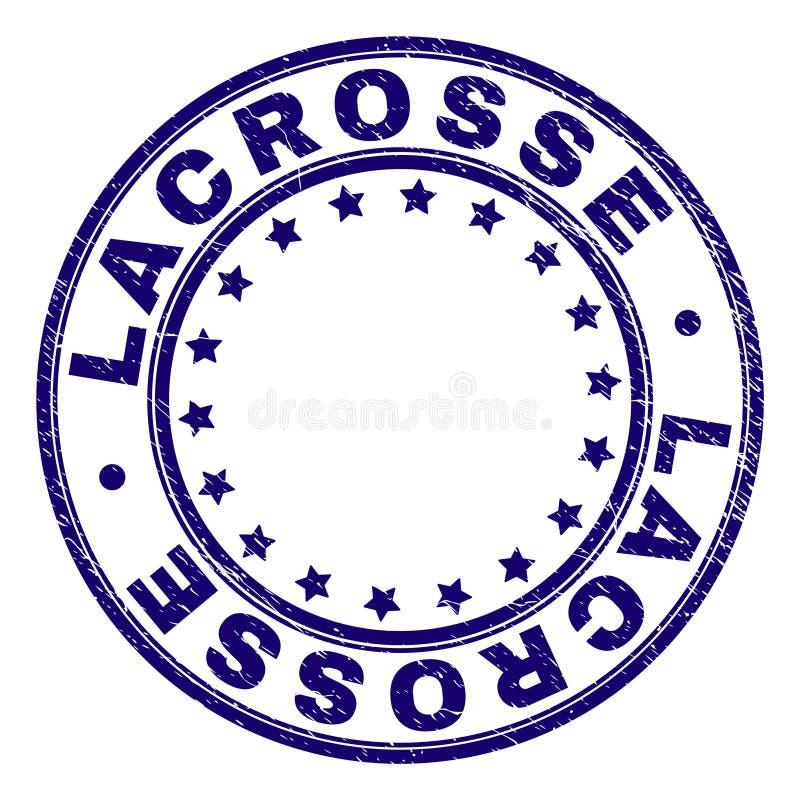 O Grunge Textured a LACROSSE em volta do selo do selo ilustração do vetor