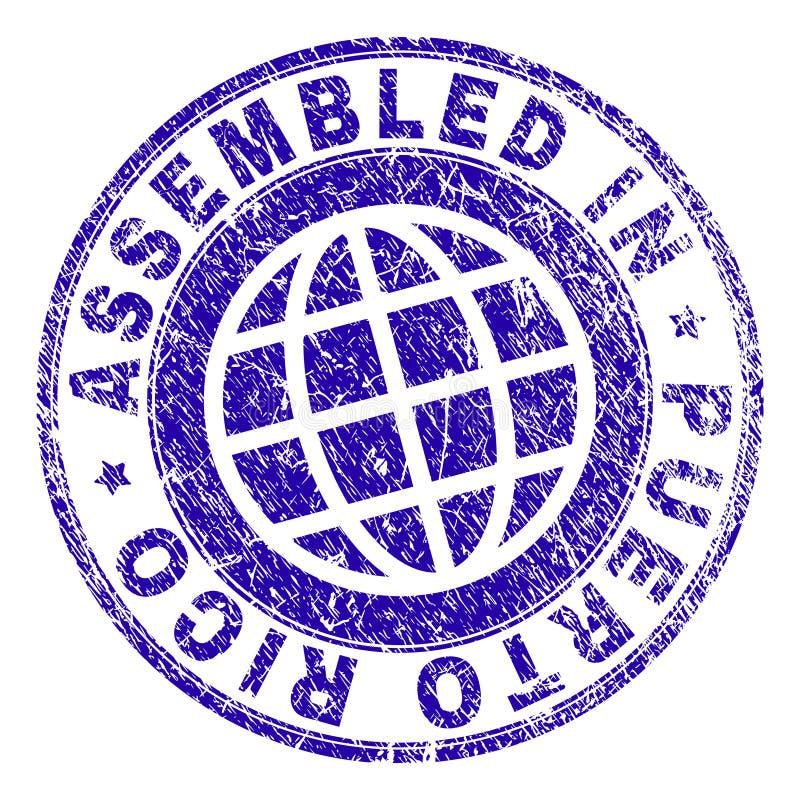 O Grunge Textured MONTADO em PUERTO RICO Stamp Seal ilustração stock