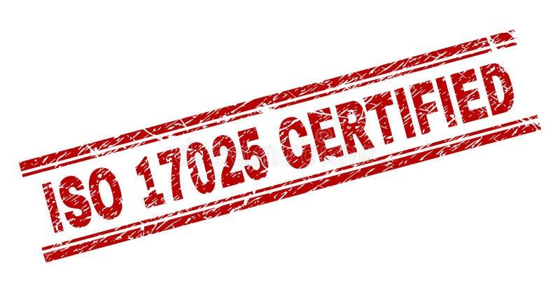 O Grunge Textured o selo CERTIFICADO do selo do ISO 17025 ilustração royalty free