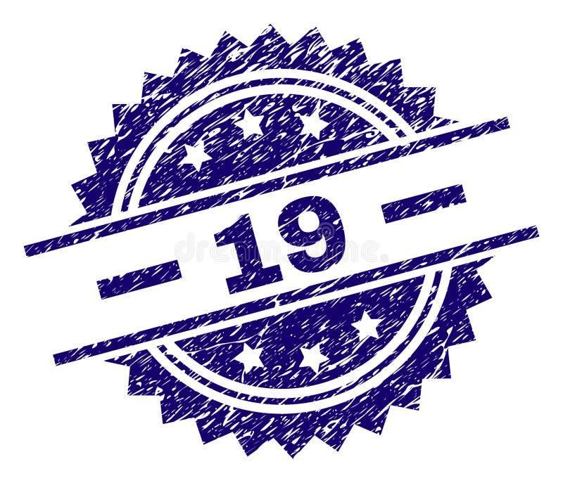 O Grunge Textured o selo de 19 selos ilustração royalty free