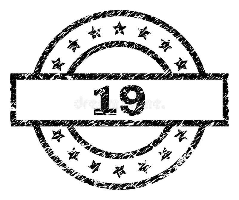 O Grunge Textured o selo de 19 selos ilustração stock