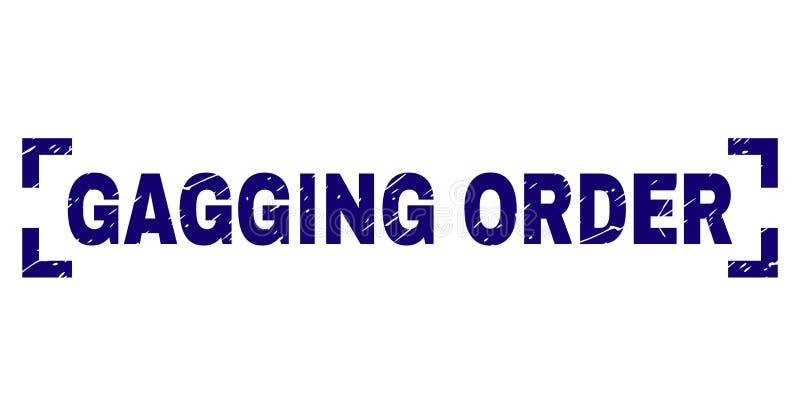 O Grunge Textured o selo do selo da ORDEM de COLOCAÇÃO DE MORDAÇA entre cantos ilustração stock