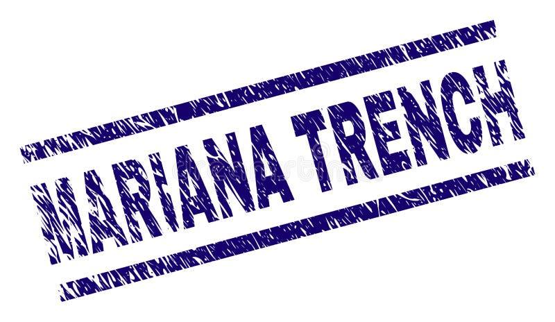 O Grunge Textured o selo do selo da TRINCHEIRA de MARIANA ilustração stock