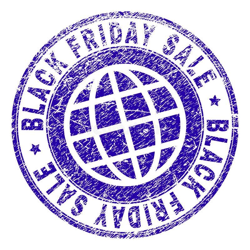 O Grunge Textured o selo do selo da VENDA de BLACK FRIDAY ilustração royalty free