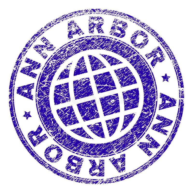 O Grunge Textured o selo do selo de ANN ARBOR ilustração do vetor