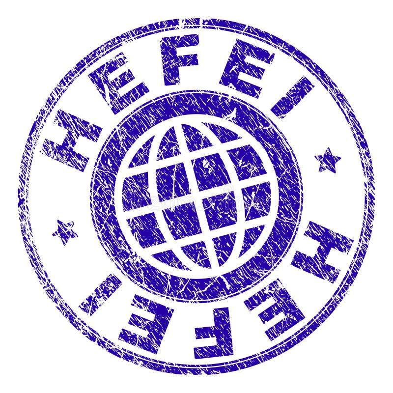 O Grunge Textured o selo do selo de HEFEI ilustração do vetor