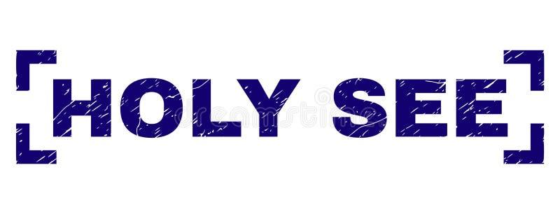 O Grunge Textured o selo do selo de HOLY SEE entre cantos ilustração do vetor