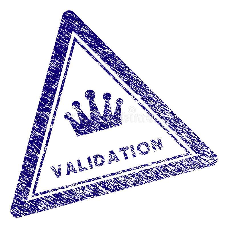 O Grunge Textured o selo do selo do triângulo da validação ilustração royalty free