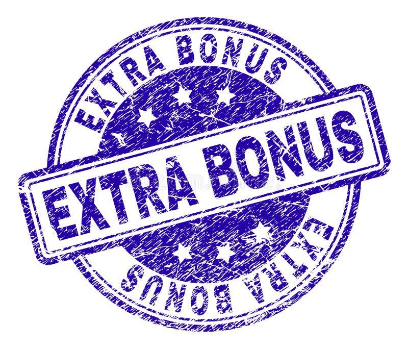 O Grunge Textured o selo EXTRA do selo do BÔNUS ilustração do vetor
