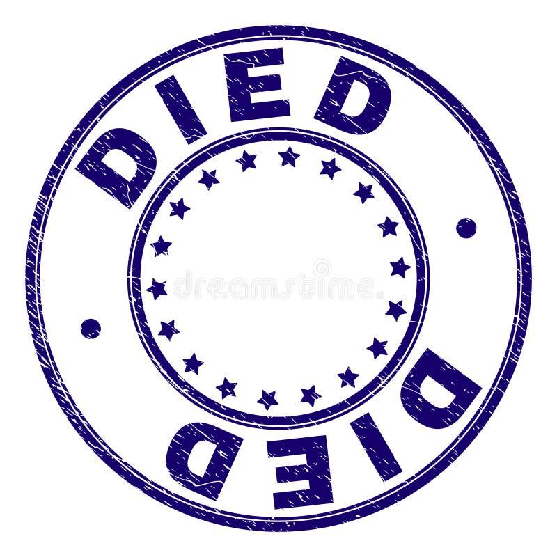 O Grunge Textured o selo redondo MORRIDO do selo ilustração royalty free