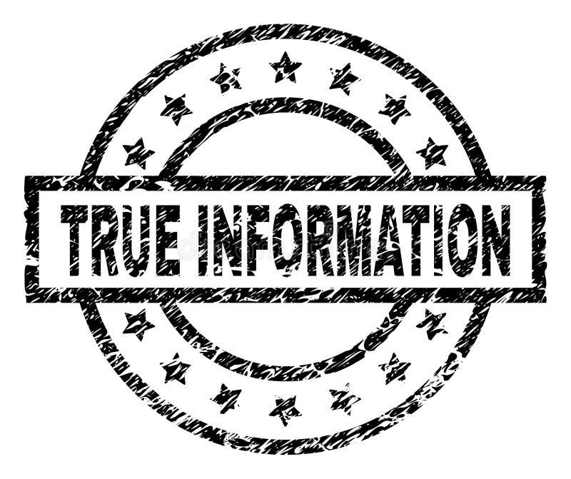 O Grunge Textured o selo VERDADEIRO do selo da INFORMAÇÃO ilustração royalty free