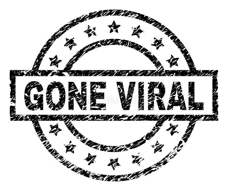 O Grunge Textured o selo VIRAL IDO do selo ilustração do vetor