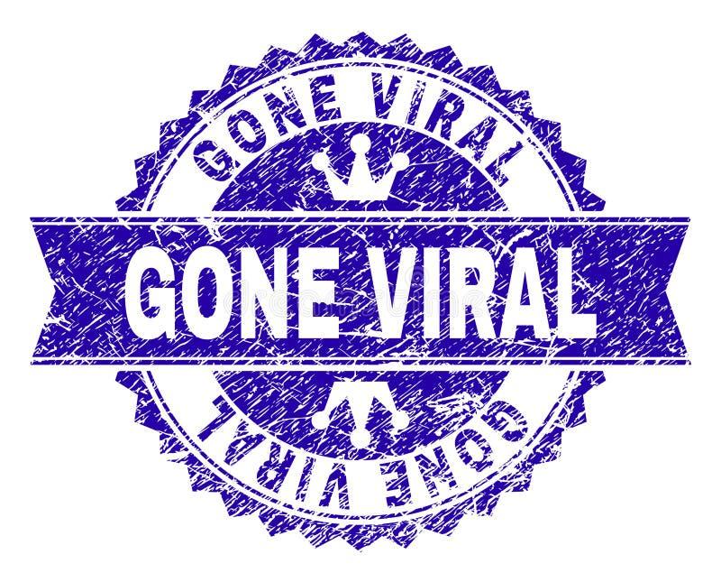 O Grunge Textured o selo VIRAL IDO do selo com fita ilustração do vetor