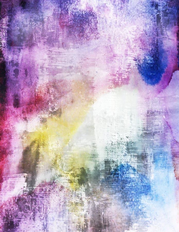 O Grunge vibrante das aquarelas riscado chapinha o papel de parede fotos de stock