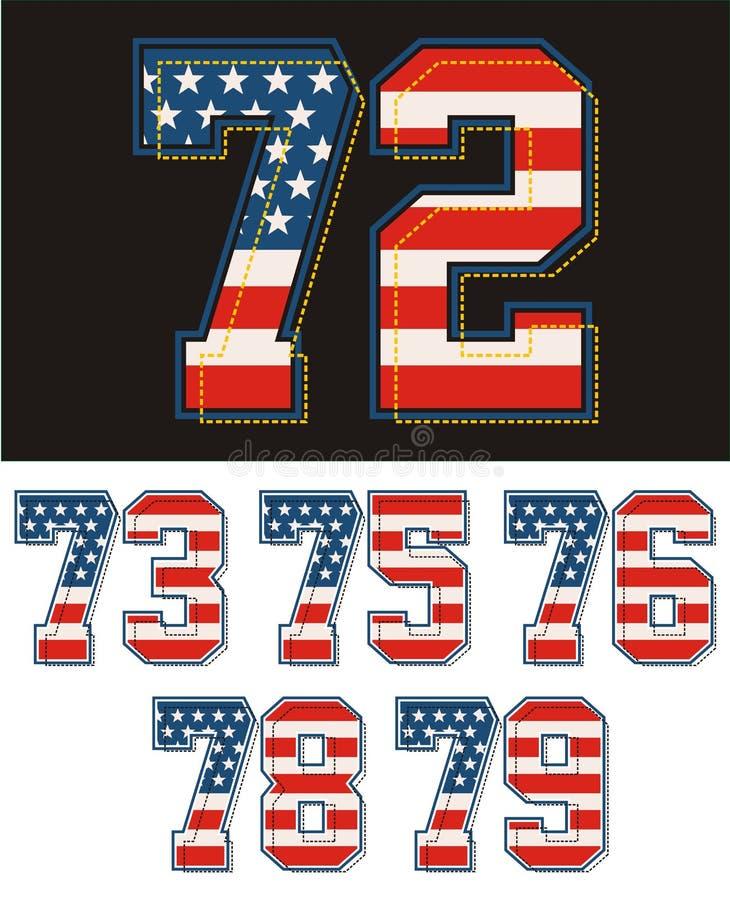 O grupo atlético numera a bandeira de América textured Imagem do vetor ilustração do vetor