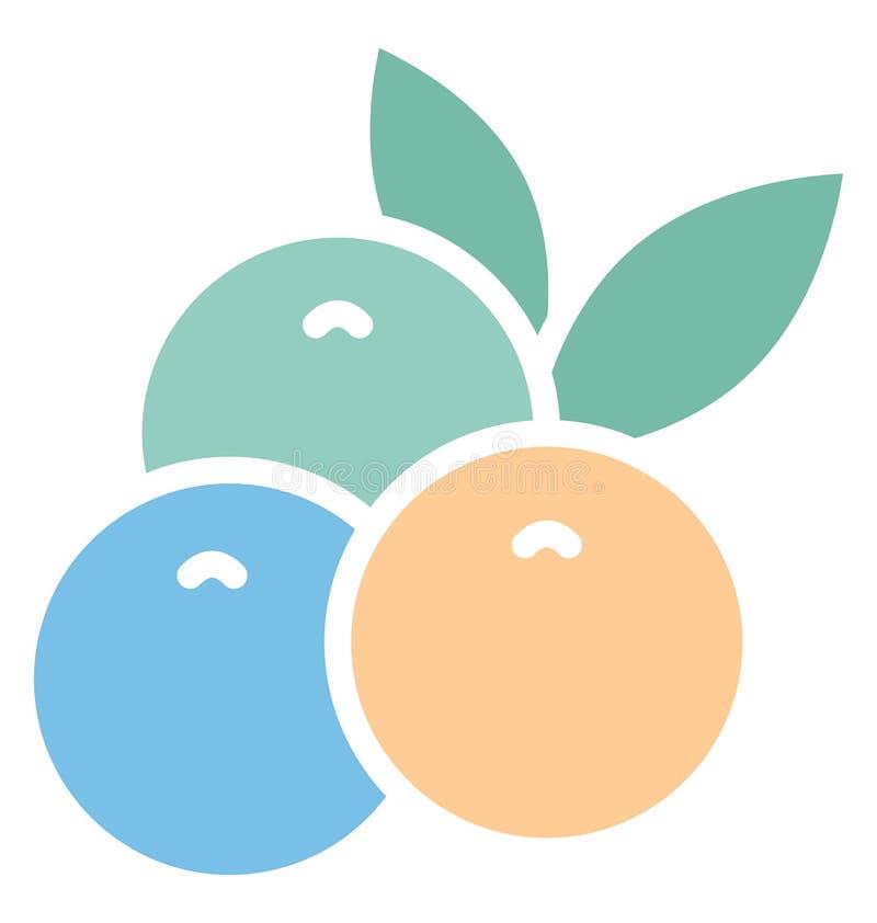 O grupo da cópia de uvas isolou o ícone do vetor que pode facilmente alterar ou editar ilustração stock