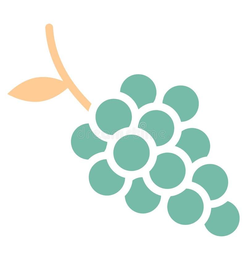 O grupo da cópia de uvas isolou o ícone do vetor que pode facilmente m se ajuntar do ícone isolado do vetor das uvas que pode fac ilustração do vetor