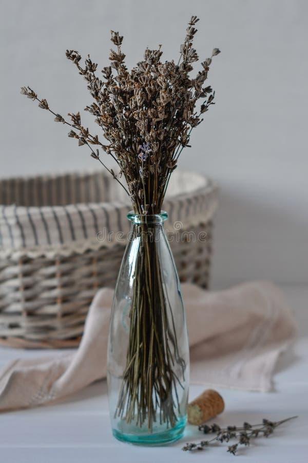 O grupo da erva da alfazema e da alfazema secadas floresce imagem de stock royalty free