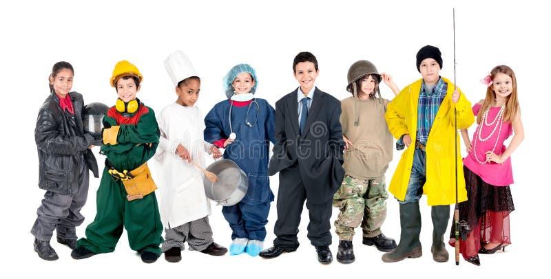 O grupo das crianças imagens de stock