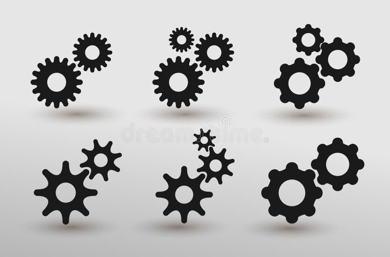 O grupo de ajustes alinha o vetor do ícone no estilo liso moderno para a Web, o gráfico e o projeto móvel Projeto liso Ilustra??o ilustração stock