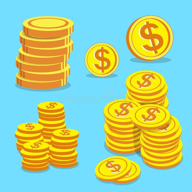 O grupo de dinheiro inventa o vetor ilustração royalty free
