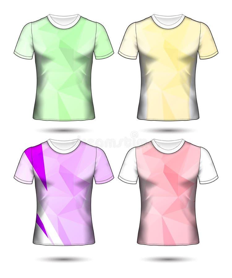 O grupo de estilo do t-shirt do molde do jérsei do futebol ou do futebol, projeta sua ilustração do vetor do clube do futebol ilustração royalty free