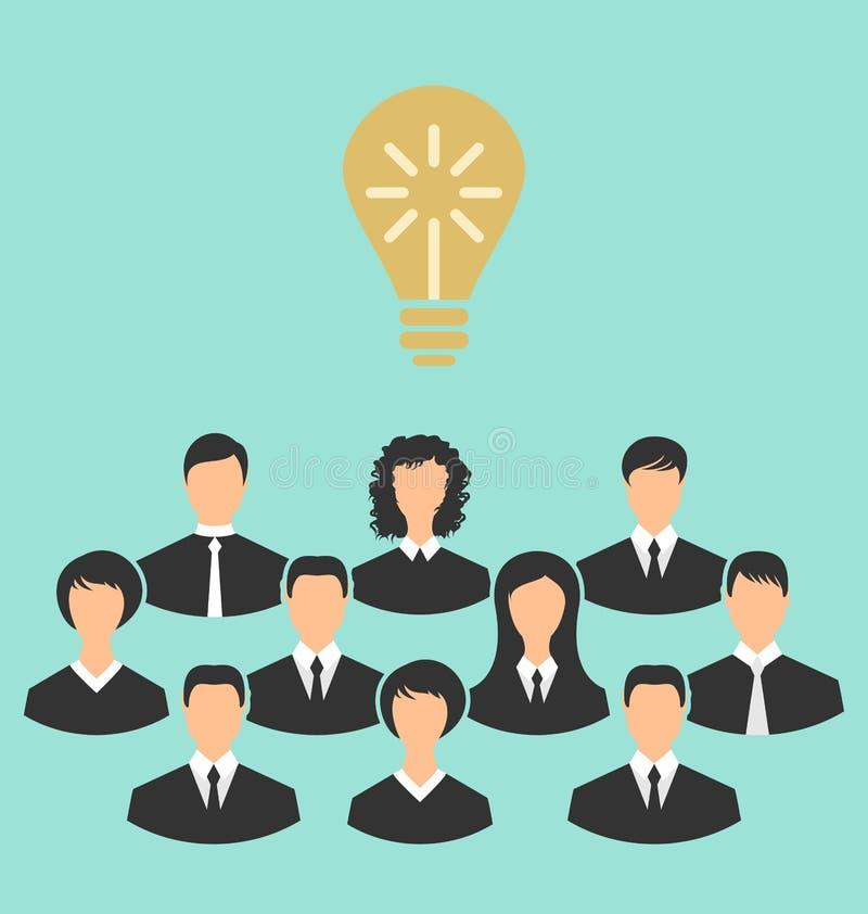 O grupo de executivos recolhe junto, nascimento do brilhante ilustração do vetor
