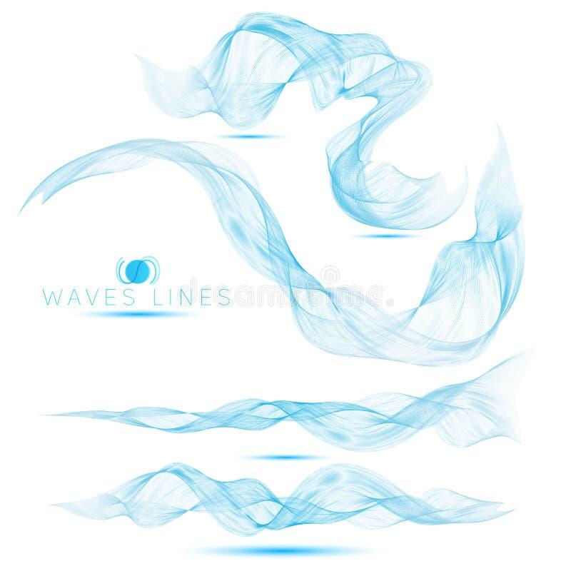 O grupo de ondas maciças da mistura bonita abstrai o fundo ilustração stock