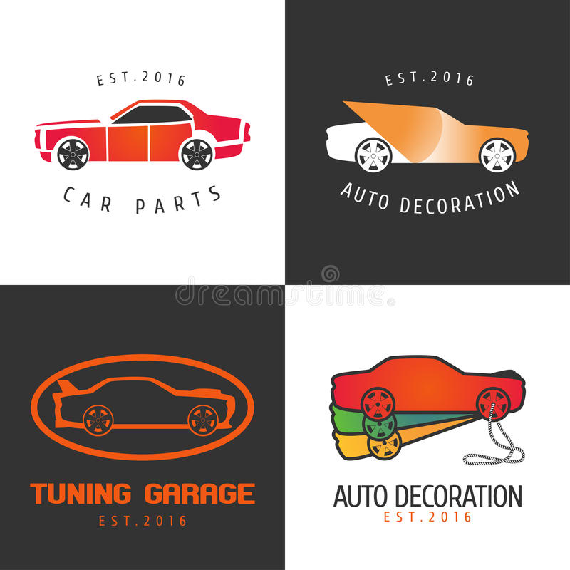 O grupo de pintura do carro, carro parte o ícone do vetor, símbolo, sinal, logotipo ilustração do vetor