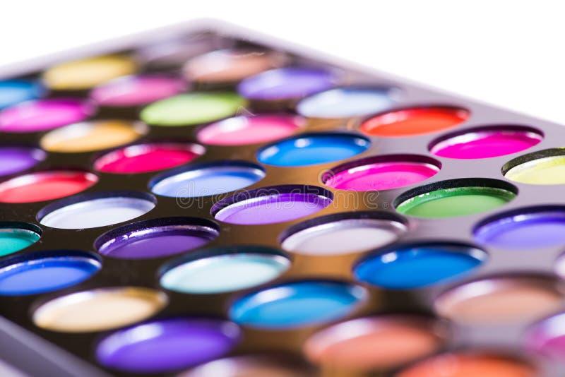 O grupo de sombra colorida para a composição isolada no branco foto de stock royalty free