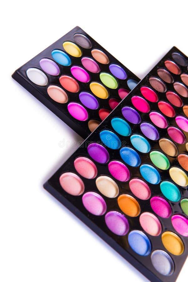 O grupo de sombra colorida para a composição isolada no branco fotos de stock