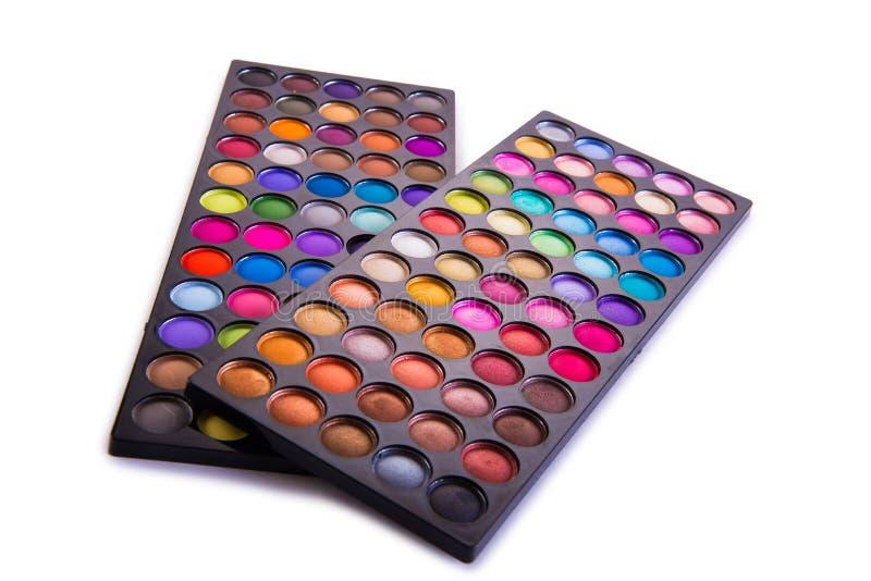 O grupo de sombra colorida para a composição isolada no branco fotos de stock royalty free