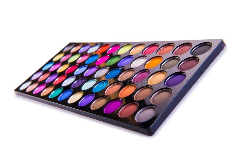 O grupo de sombra colorida para a composição isolada no branco imagens de stock