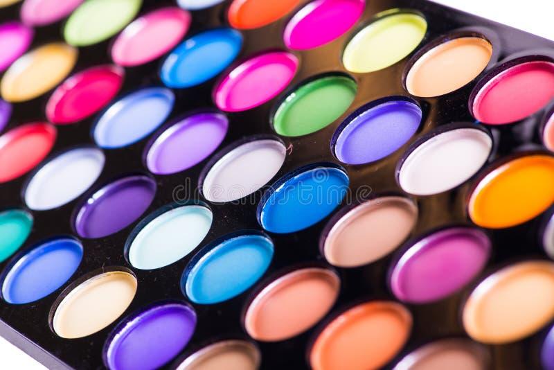 O grupo de sombra colorida para a composição isolada no branco imagem de stock