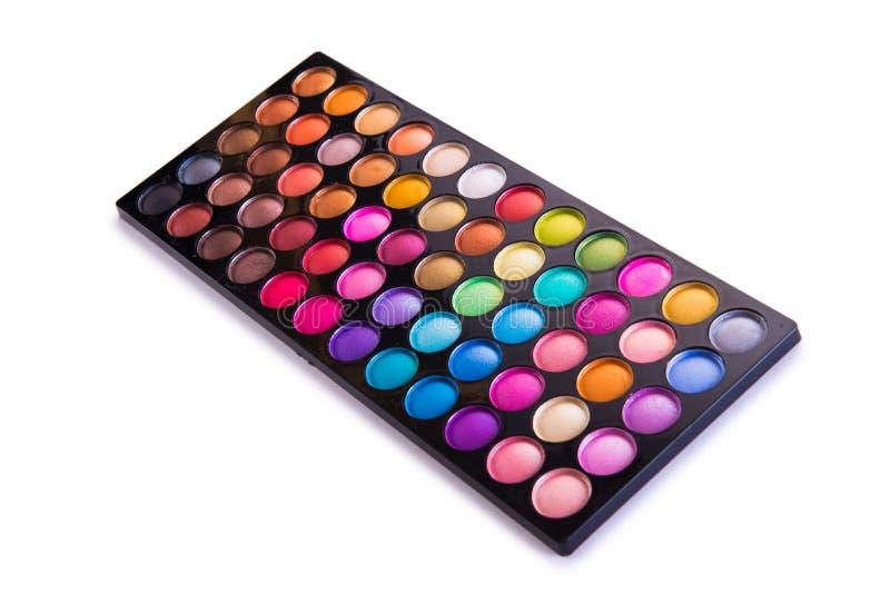 O grupo de sombra colorida para a composição isolada no branco fotografia de stock