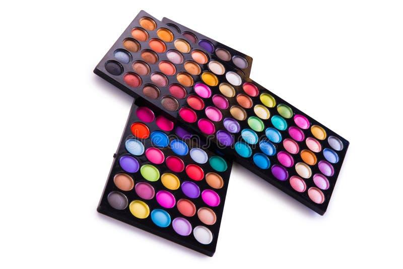 O grupo de sombra colorida para a composição isolada no branco fotografia de stock royalty free