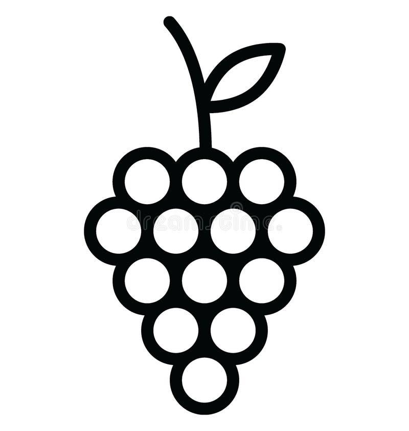 O grupo do RGB de uvas básico isolou o ícone do vetor que pode facilmente alterar ou o grupo do ed do ícone isolado do vetor das  ilustração royalty free