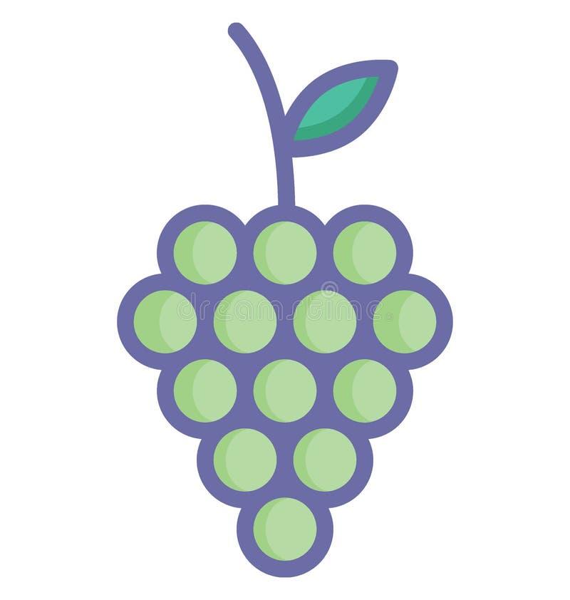 O grupo do RGB de uvas básico isolou o ícone do vetor que pode facilmente alterar ou editar ilustração do vetor