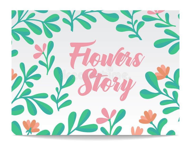 O grupo do vetor de cartões do convite com aquarela floresce elementos e letras caligráficas ilustração stock