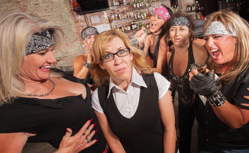 O grupo fêmea ri do lerdo fotografia de stock royalty free