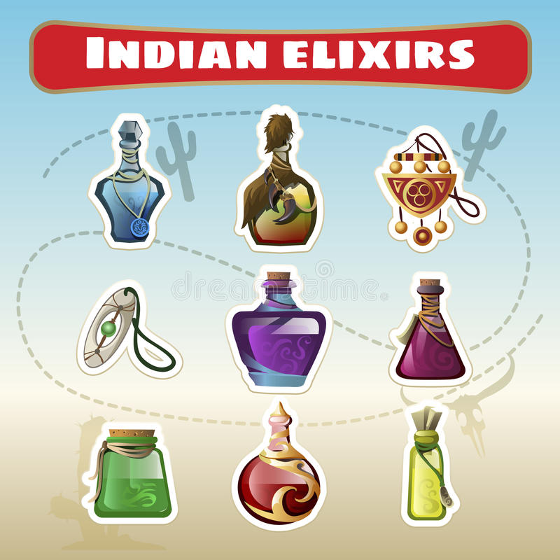 O grupo indiano de elixires ilustração royalty free