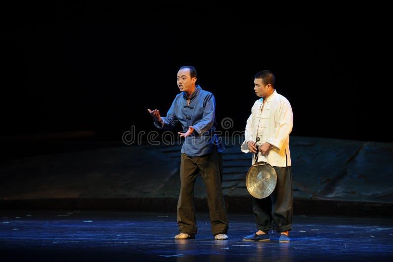 O guarda disse a ópera de Jiangxi da interferência uma balança romana imagens de stock