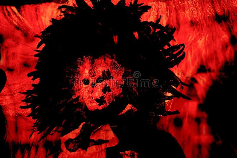 o guia ao vermelho do inferno imagem de stock