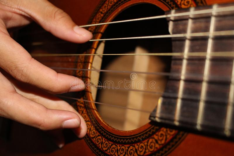 O guitarrista foto de stock royalty free
